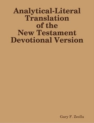 an analysis of a book on the new testament Get this from a library discourse analysis and the new testament : approaches and results [jeffrey t reed stanley e porter.