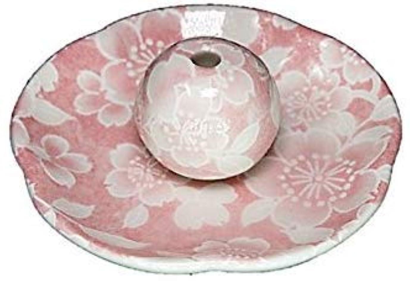 スカルクファランクス無臭桜友禅 ピンク 花形香皿 お香立て 日本製 製造 直売品