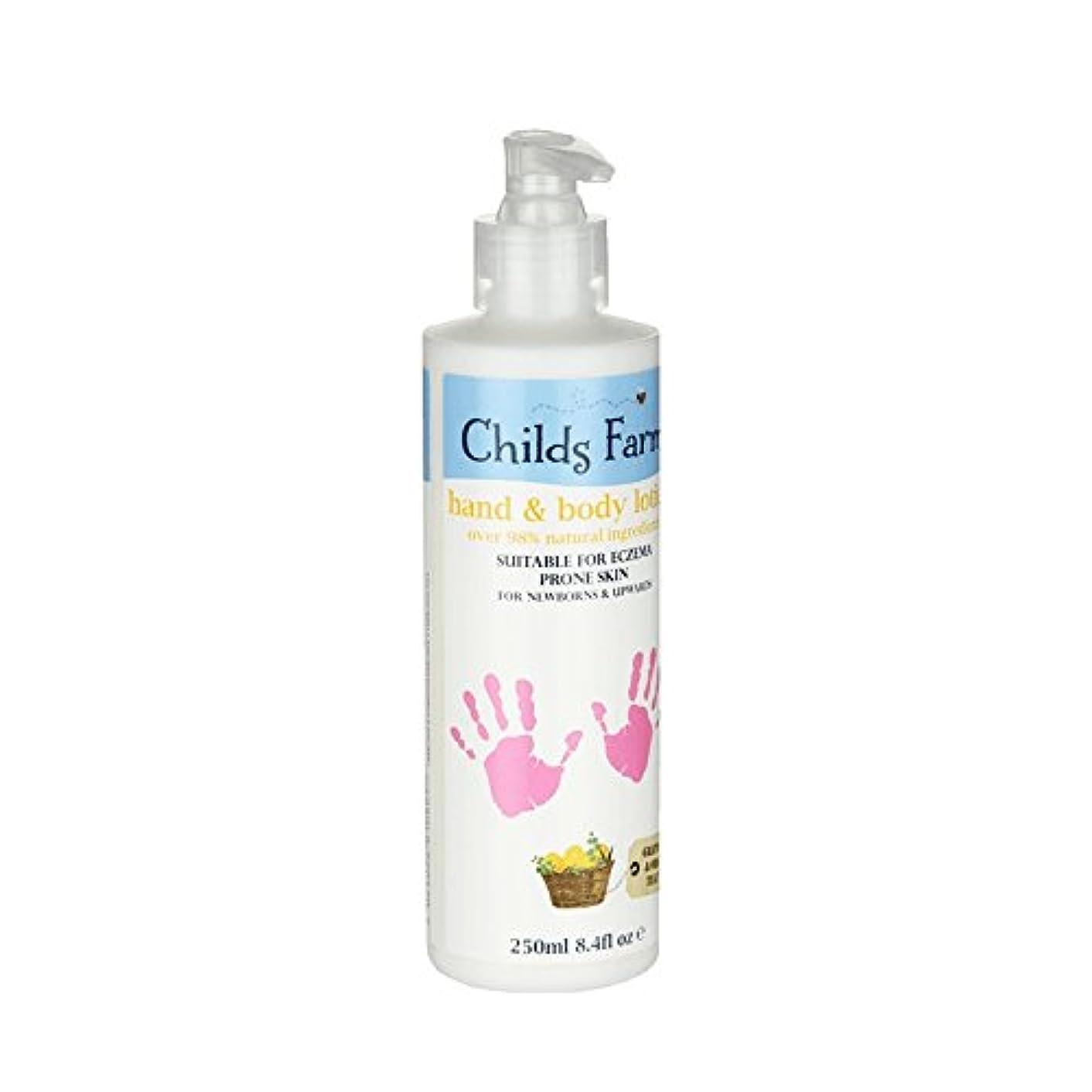 端末母音緩む絹のような肌の250ミリリットルのためのチャイルズファームハンド&ボディローション - Childs Farm Hand & Body Lotion for Silky Skin 250ml (Childs Farm)...