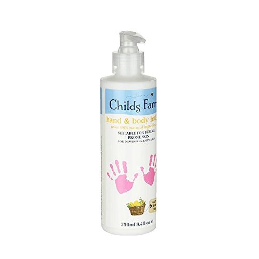蓮拒絶するリラックスした絹のような肌の250ミリリットルのためのチャイルズファームハンド&ボディローション - Childs Farm Hand & Body Lotion for Silky Skin 250ml (Childs Farm)...