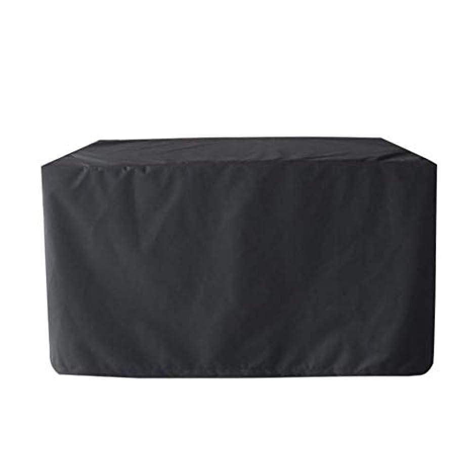 栄光配る水平長方形のテーブルカバー防水防塵ブラックヘビーデューティ屋外ガーデン家具カバー、4サイズ、カスタマイズ可能 (Size : 126X126X74cm)