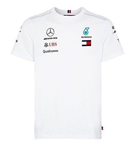 [해외]메르세데스 AMG 페트로나스 F1 2018 팀 드라이버 T 셔츠 화이트/Mercedes AMG 2018 Team Driver T-shirt White