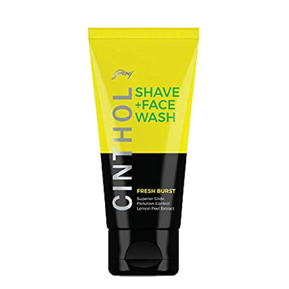 アシスト歌う実行Cinthol Fresh Burst Shaving + Face Wash, 100g
