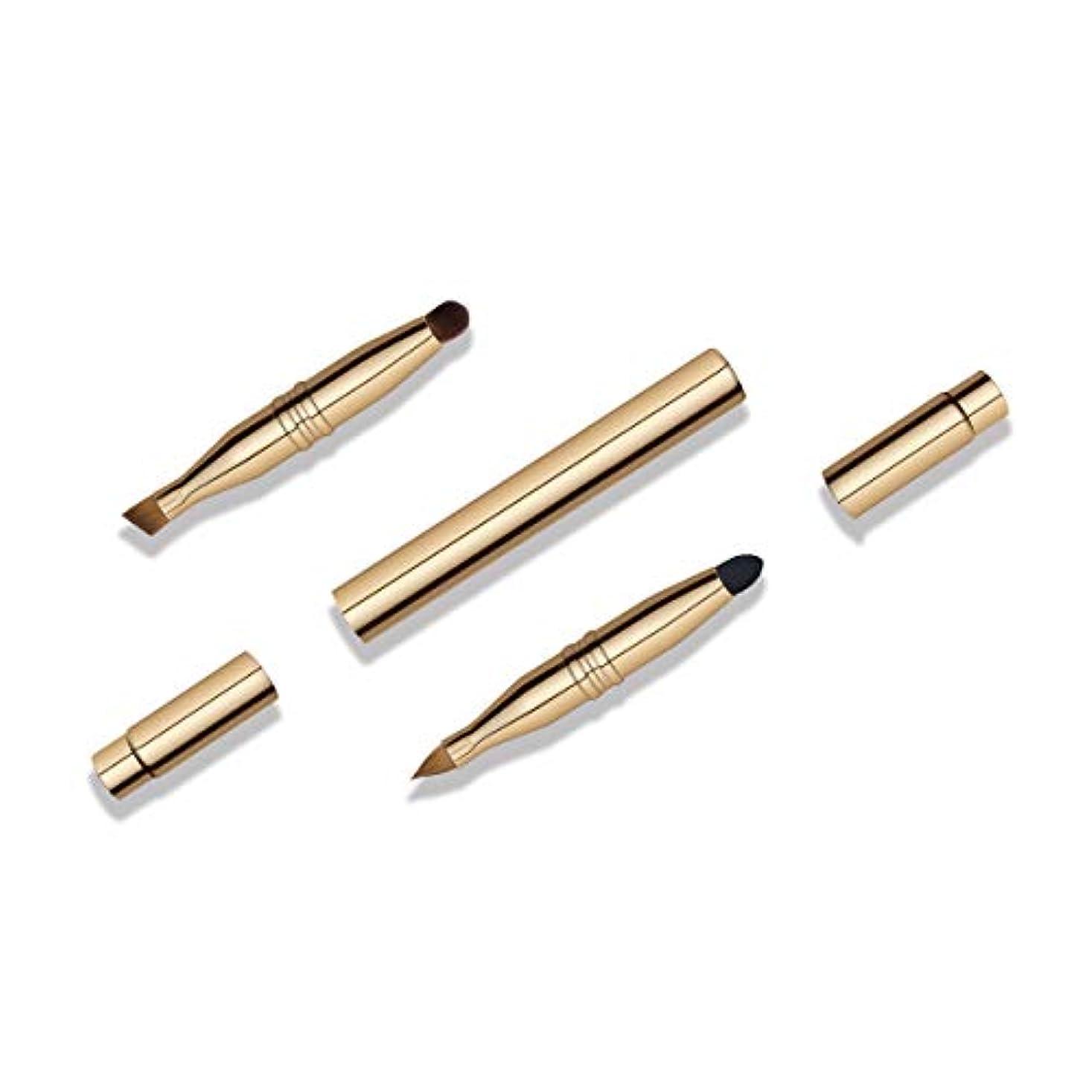 免疫風下着BLD 伸縮式携帯用4ヘッドメイクブラシ スライド式 4エンド化粧筆