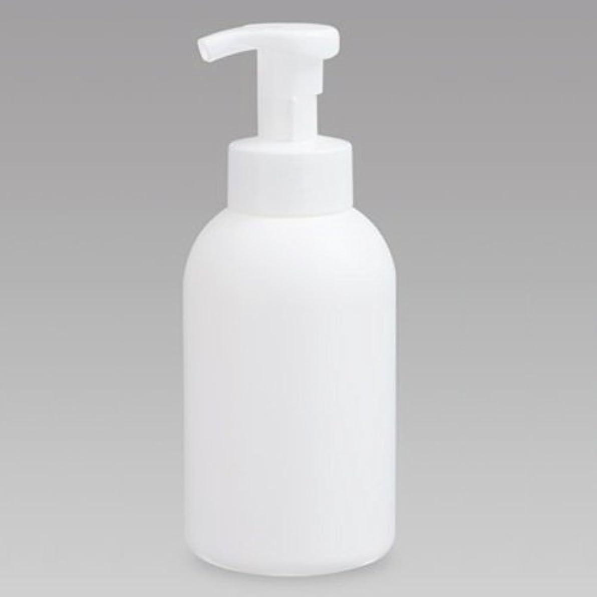 同性愛者リビジョンぬるい泡ボトル 泡ポンプボトル 500mL(PE) ホワイト 詰め替え 詰替 泡ハンドソープ 全身石鹸 ボディソープ 洗顔フォーム