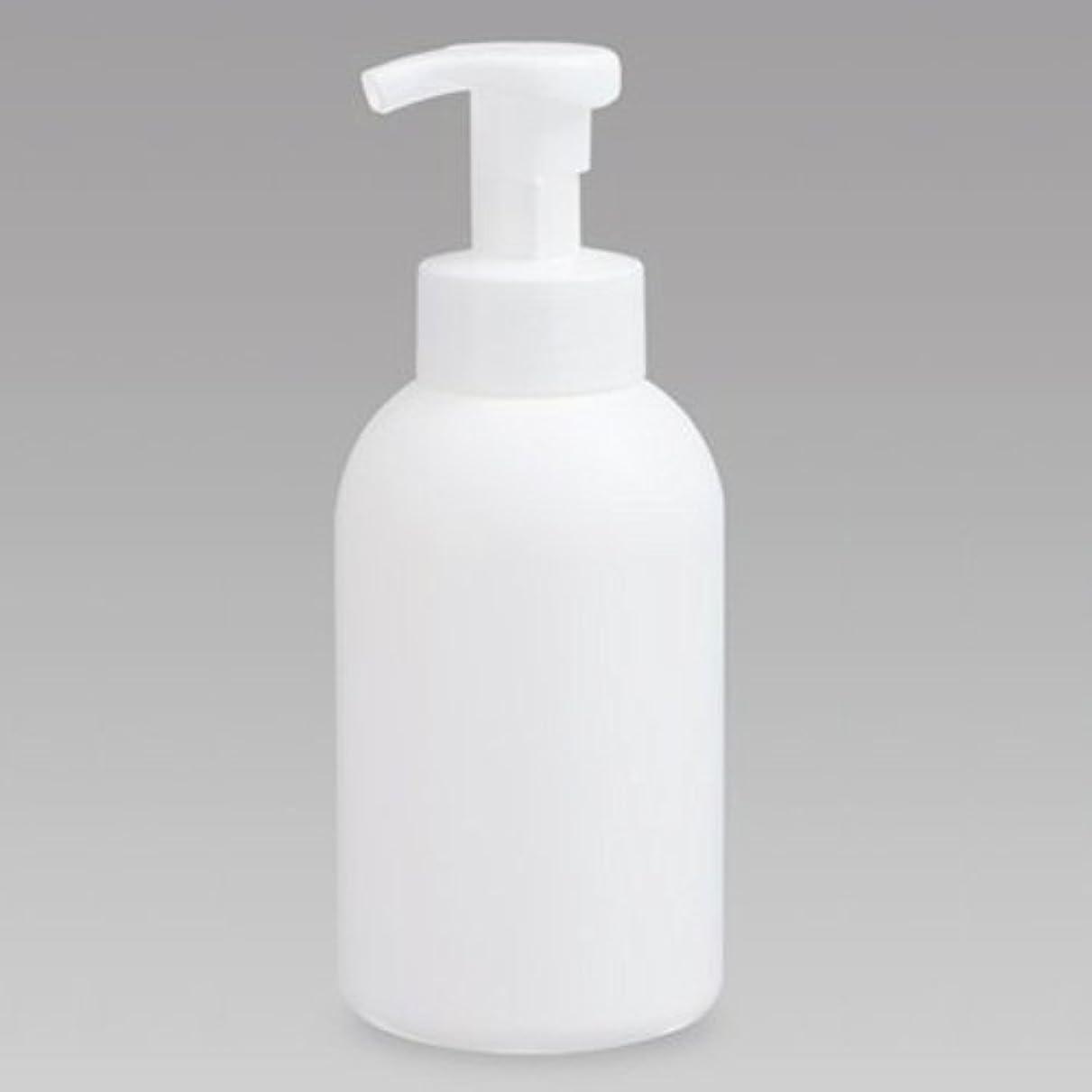 展示会ヘルパーリズミカルな泡ボトル 泡ポンプボトル 500mL(PE) ホワイト 詰め替え 詰替 泡ハンドソープ 全身石鹸 ボディソープ 洗顔フォーム