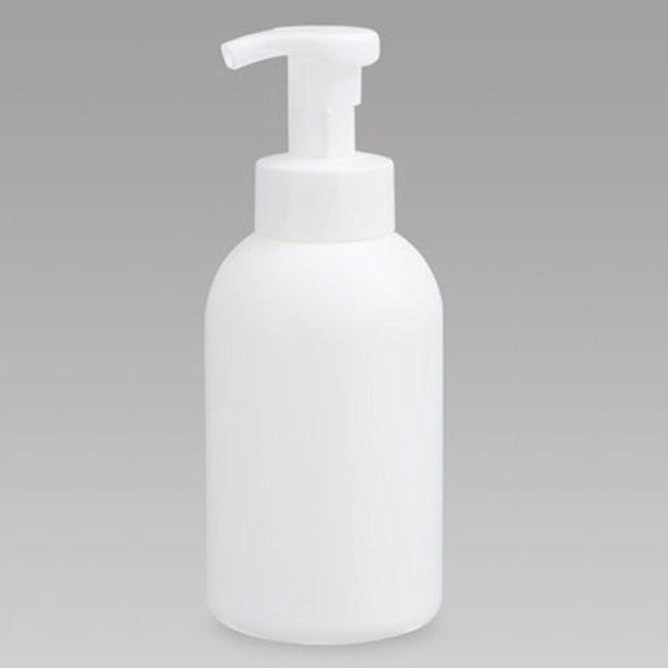 土地慣らすヶ月目泡ボトル 泡ポンプボトル 500mL(PE) ホワイト 詰め替え 詰替 泡ハンドソープ 全身石鹸 ボディソープ 洗顔フォーム