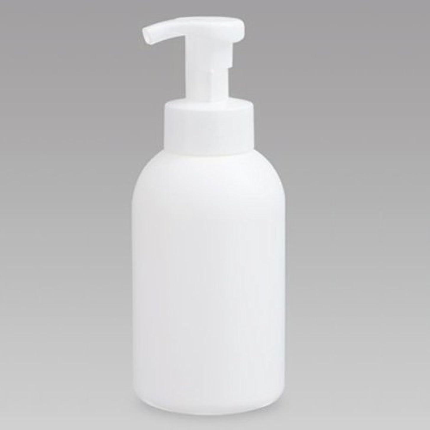 酔っ払いレンド承認する泡ボトル 泡ポンプボトル 500mL(PE) ホワイト 詰め替え 詰替 泡ハンドソープ 全身石鹸 ボディソープ 洗顔フォーム