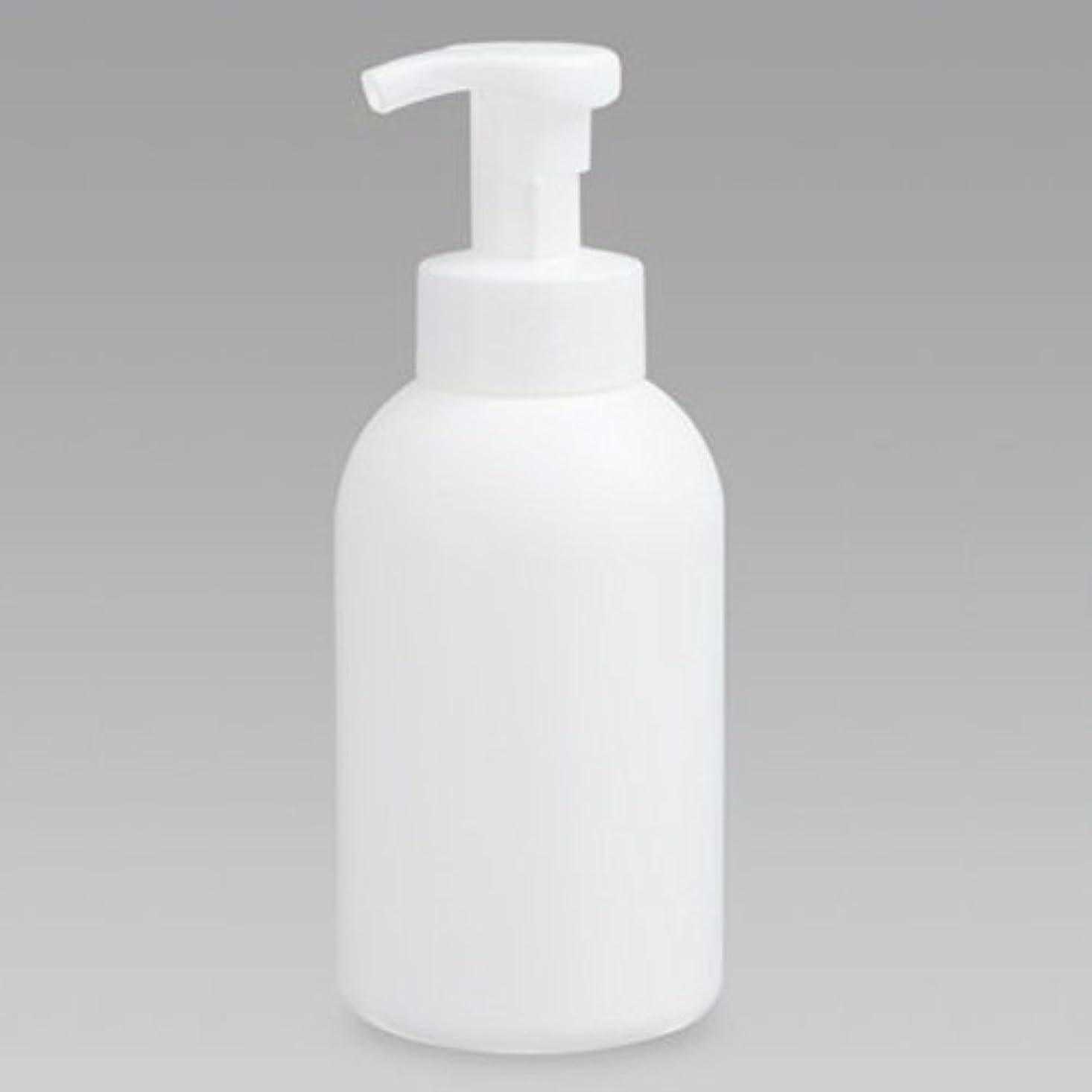 珍しい苛性コントラスト泡ボトル 泡ポンプボトル 500mL(PE) ホワイト 詰め替え 詰替 泡ハンドソープ 全身石鹸 ボディソープ 洗顔フォーム