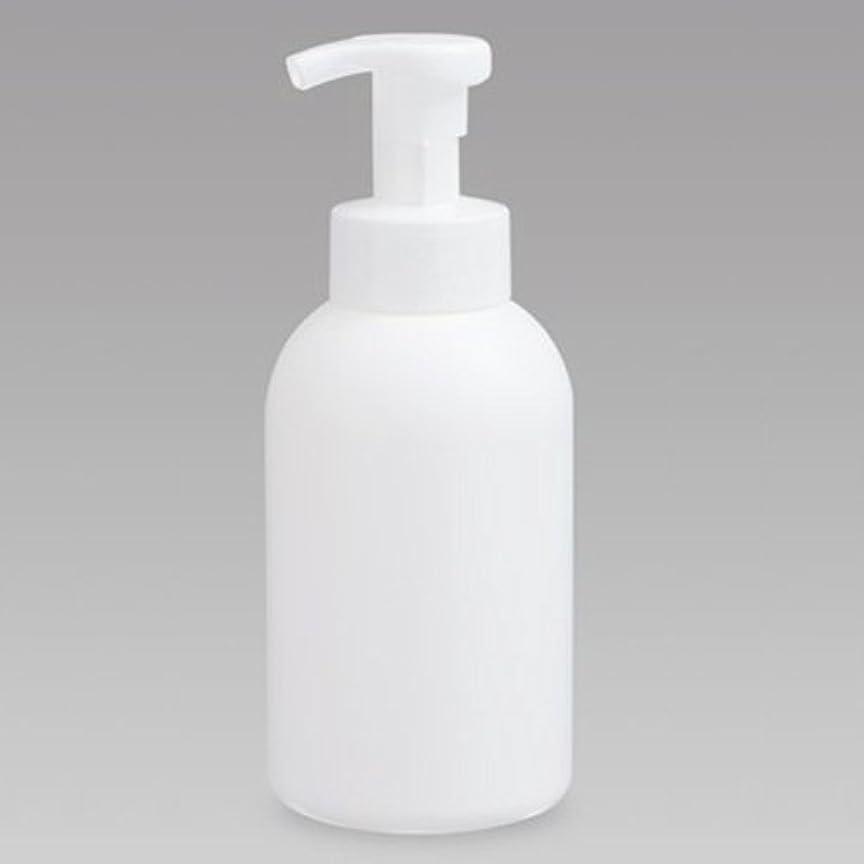 繰り返す勝利した朝の体操をする泡ボトル 泡ポンプボトル 500mL(PE) ホワイト 詰め替え 詰替 泡ハンドソープ 全身石鹸 ボディソープ 洗顔フォーム