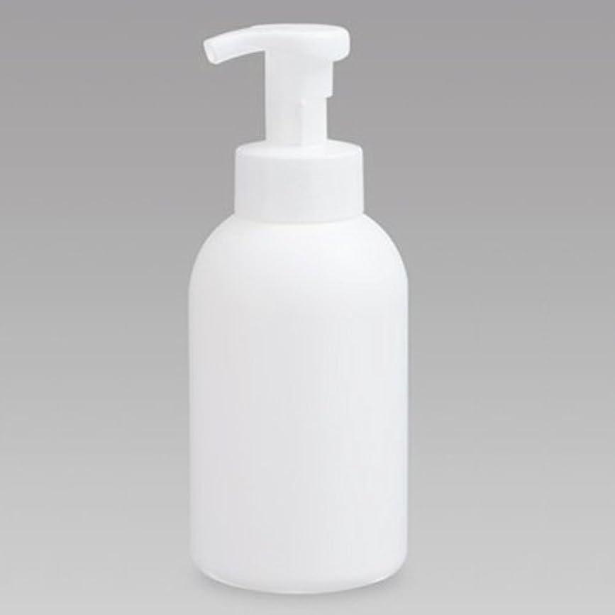 表面幸運なマッサージ泡ボトル 泡ポンプボトル 500mL(PE) ホワイト 詰め替え 詰替 泡ハンドソープ 全身石鹸 ボディソープ 洗顔フォーム
