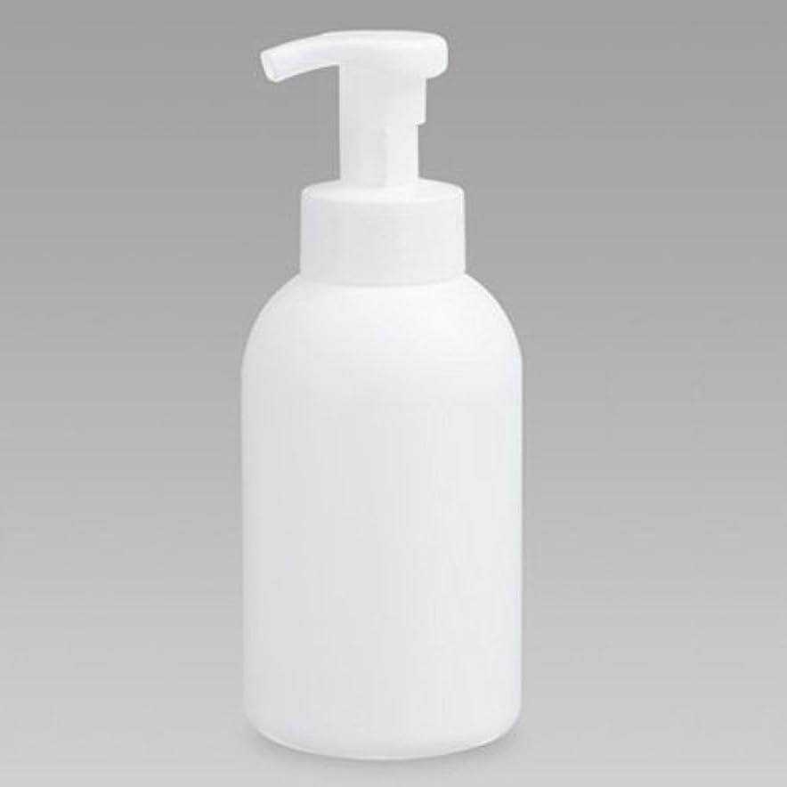リネン槍ポンペイ泡ボトル 泡ポンプボトル 500mL(PE) ホワイト 詰め替え 詰替 泡ハンドソープ 全身石鹸 ボディソープ 洗顔フォーム