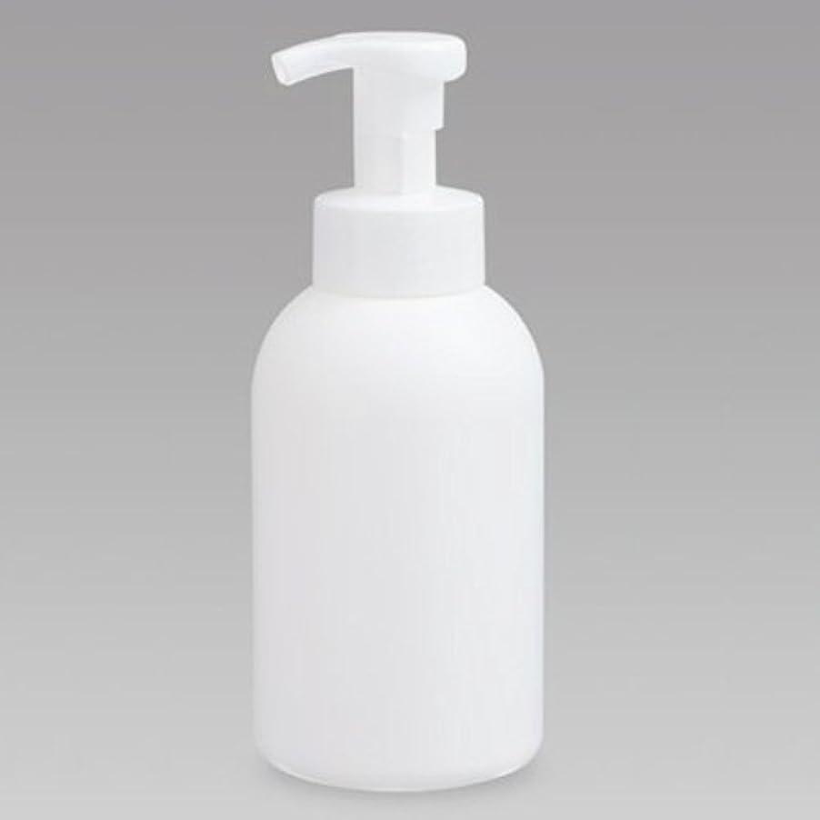 感覚道路シャワー泡ボトル 泡ポンプボトル 500mL(PE) ホワイト 詰め替え 詰替 泡ハンドソープ 全身石鹸 ボディソープ 洗顔フォーム