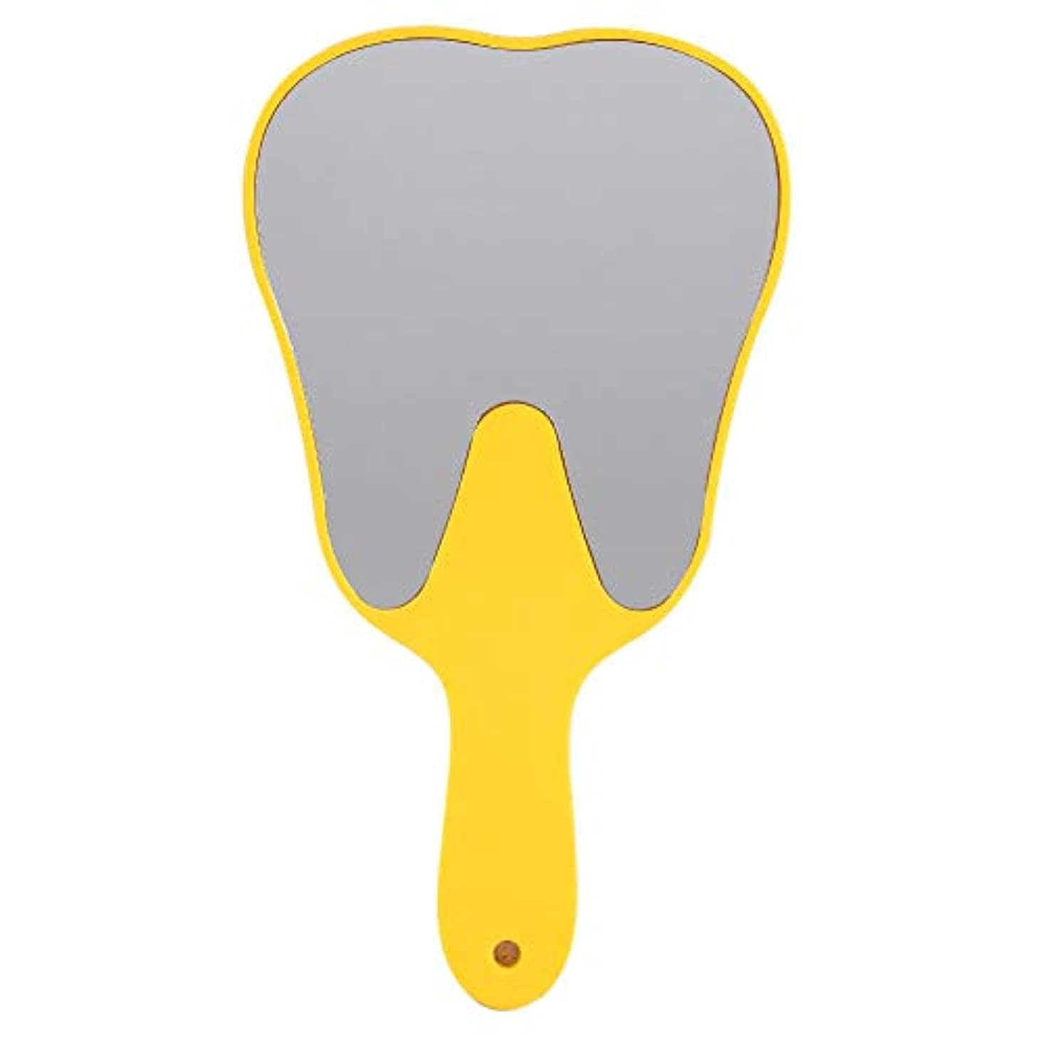 グレー関連付ける突破口歯鏡 おしゃれな便利なかわいいプラスチックハンドル 歯科ケアハンドミラーツール (1#)