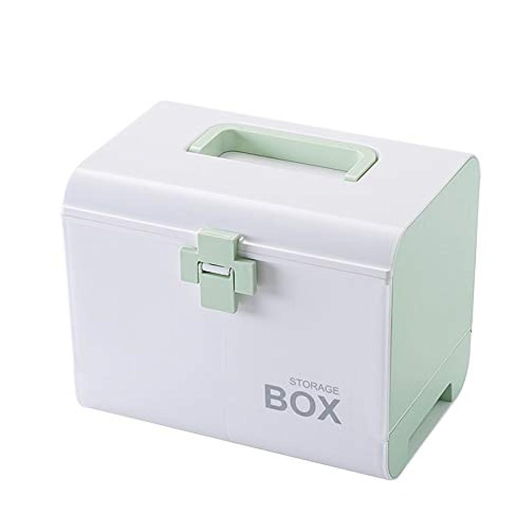 冷笑する今日翻訳者応急処置キット医療ボックス、2層ポータブル屋外サバイバル緊急キット治療薬収納ボックス薬ケース