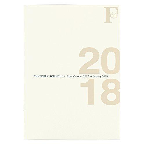 キョクトウ FOBCOOP 手帳 2018年 10月始まり A5 マンスリー 白 PBF48W18