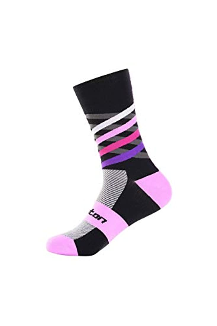ベイビー回転させる毎週Monton[モントン]サイクリングソックス[Dimensionsデザイン/ピンク]フリーサイズ自転車用靴下