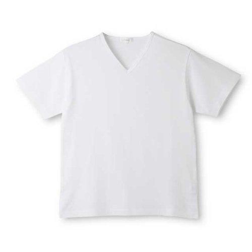 Deol(デオル) Tシャツ 天竺 急速分解消臭シャツ Vネック 男女兼用 L