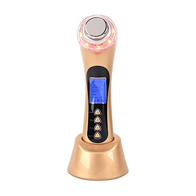 メールを書く聴覚セントフェイシャルマッサージャー5-in-1イオンクリーナーと赤/青/緑LED光線療法装置により、にきび/にきびのインポート栄養反しわ復活USB充電式