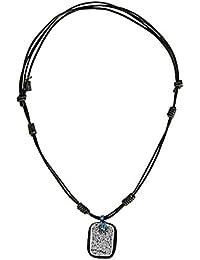 レザーネックレス本革ネックレス調節可能なサイズのメンズの、色、ブラウン、35 cm長