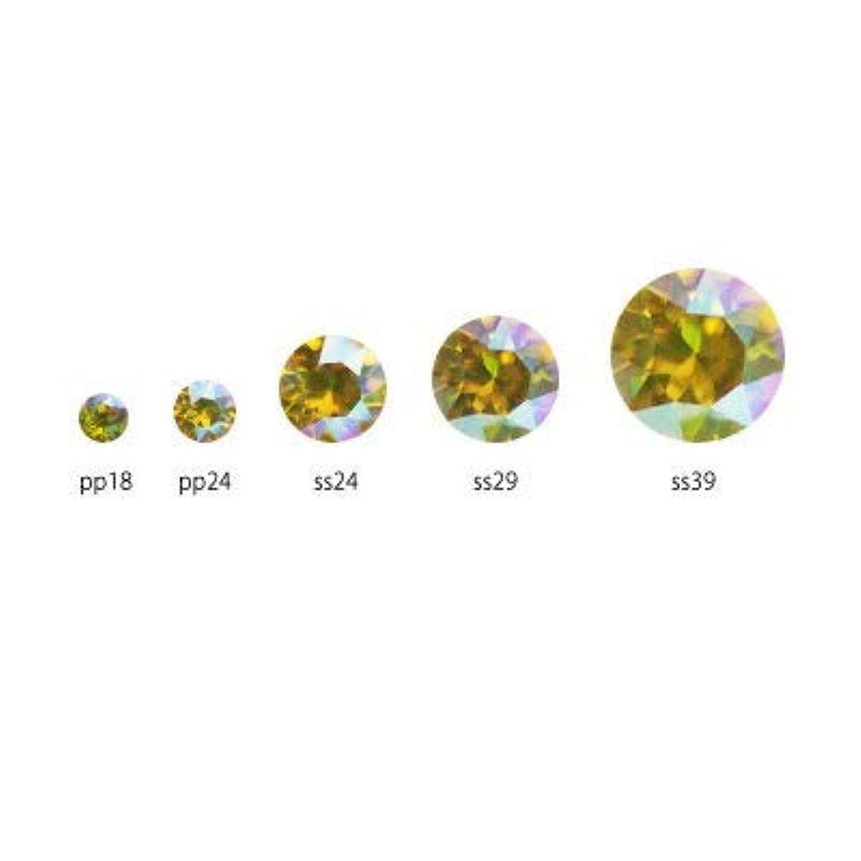 気分顔料細分化するSWAROVSKI ライトトパーズシマー チャトン(Vカット) アソート #1088 pp18/24 ss24/29/39 計29p
