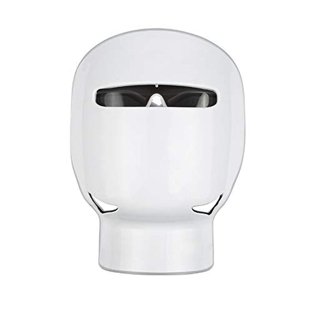 怒りリンスキャッチフォトンフェイシャルトリートメント、3色LEDライトセラピーマスク家庭用LEDフォトンセラピー肌の若返りアンチエイジングホワイトニングビューティーフェイシャルスキンケアマスクネック