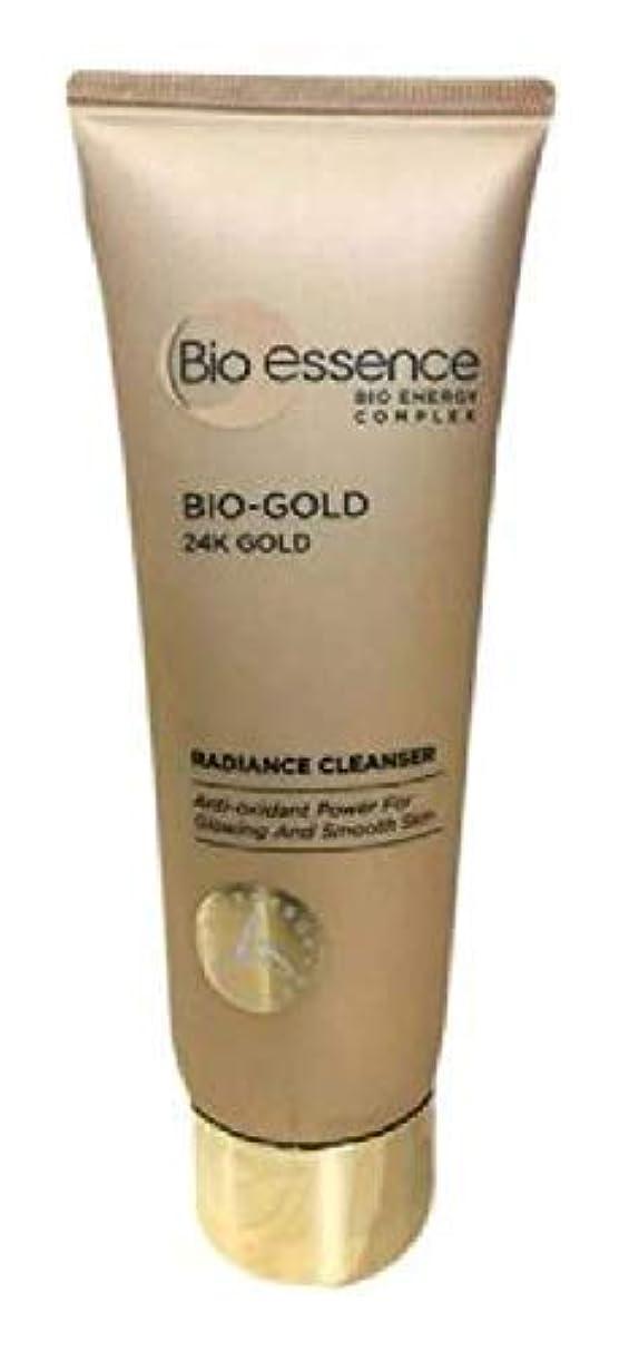 飽和する無反抗Bio-Essence バイオゴールド輝きクレンザー100ミリリットル豊富な、細かな泡が肌に最も優しいクレンジングを与えます