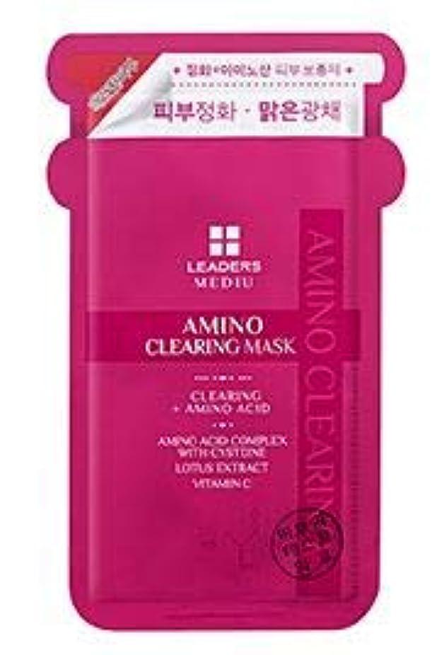 ペンス株式水差し[LEADERS] MEDIU Amino Clearing Mask 25ml*10ea / リーダースアミノクリアリングマスク 25ml*10枚 [並行輸入品]