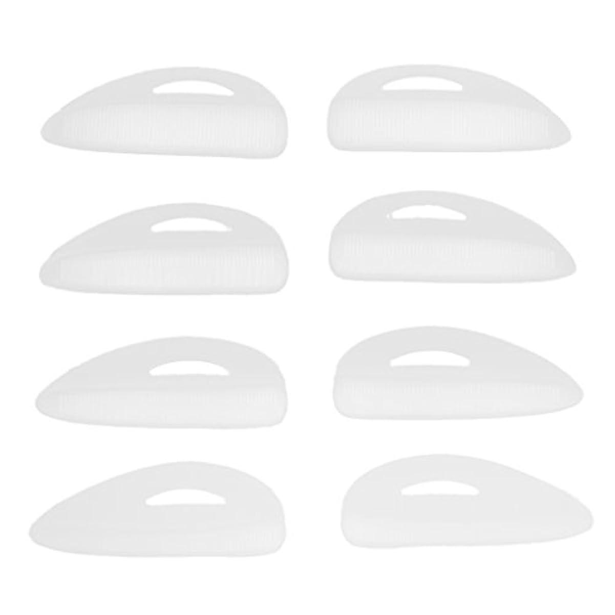 メンバーフルート被害者Fenteer 4ペア つけまつげパッド アイラッシュ まつげ カーラーパッド 再利用可 シリコン エクステンションシールド 化粧ツール