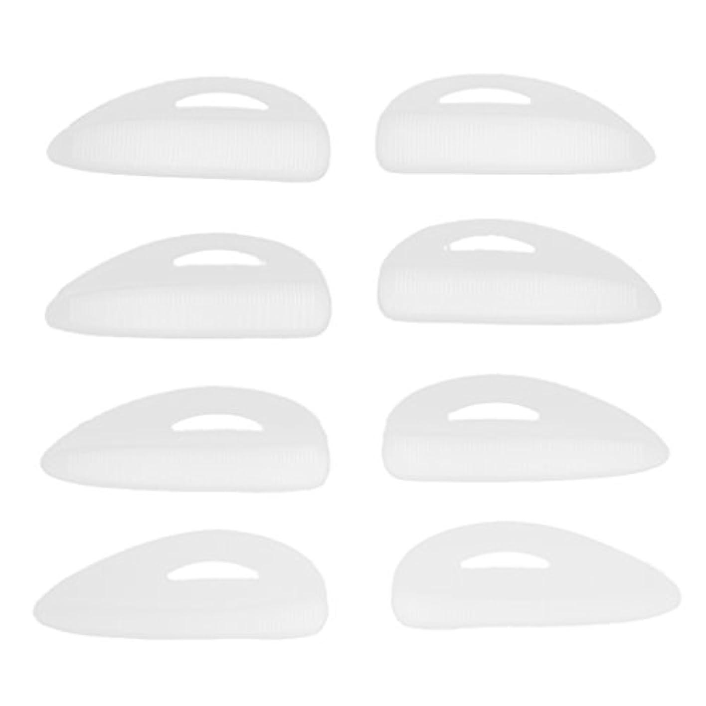 カッター行商人細胞4ペア つけまつげパッド アイラッシュ まつげ カーラーパッド シールド 再利用可 シリコン