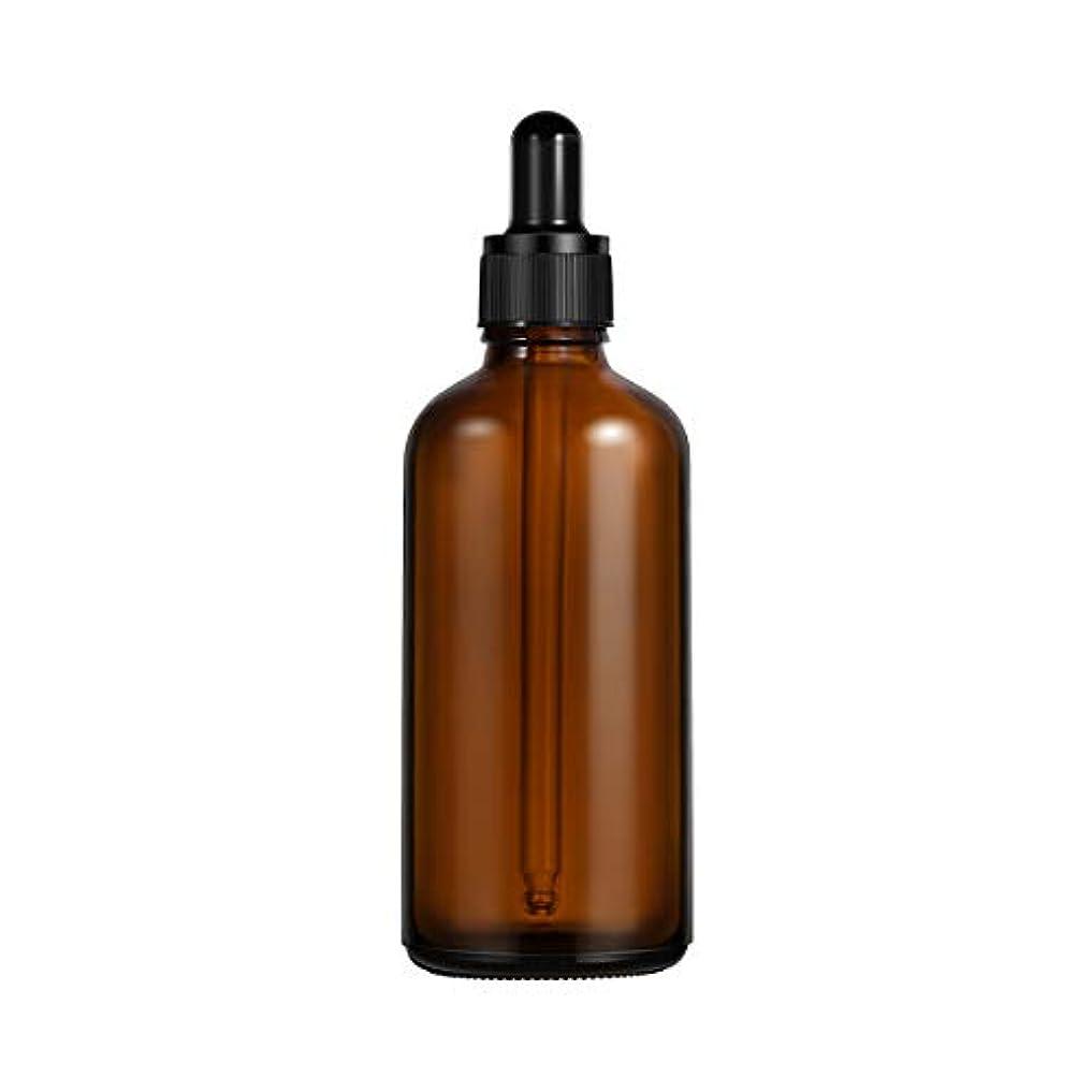 鎮痛剤レッスン空虚Frcolor 遮光瓶 スポイト遮光瓶 100ml スポイト付き ガラス製 アロマボトル 保存容器 エッセンシャルオイル 香水 保存/詰替え 2本入(茶色)