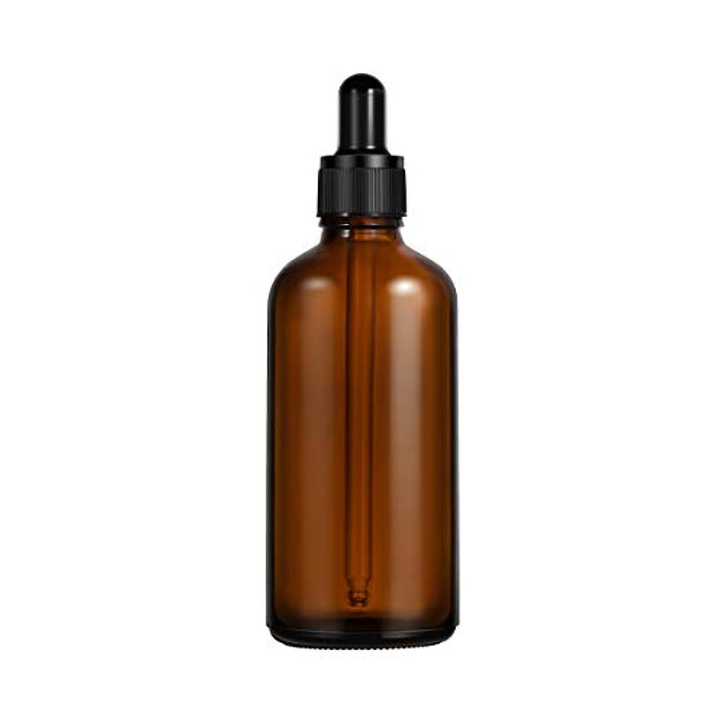 違法研磨夜Frcolor 遮光瓶 スポイト遮光瓶 100ml スポイト付き ガラス製 アロマボトル 保存容器 エッセンシャルオイル 香水 保存/詰替え 2本入(茶色)