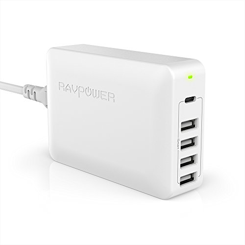 RAVPower USB-C充電器 Power Delivery 60W 5ポート (MacBook/iPhone / Android 各種対応) RP-PC059 ホワイト