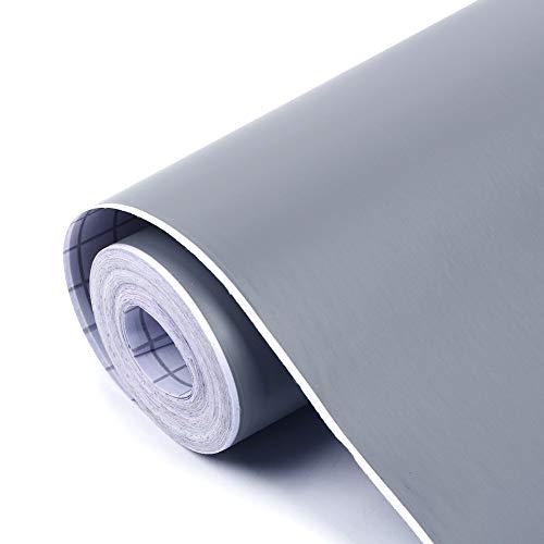 壁紙シール 無地 DIY ウォールステッカー はがせる 防水 45cm×10M グレー 壁紙 シール のり付き クロス カッティングシート 防水 防油 耐熱