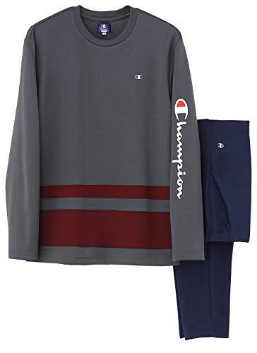 [チャンピオン] ルームウェア 長袖長パンツ ダンボールニット OM8539 メンズ チャコールグレー 日本 L (日本サイズL相当)