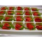フレッシュ エディブルフラワー(食用花) ベルローズ(赤バラ) 1パック20個入り