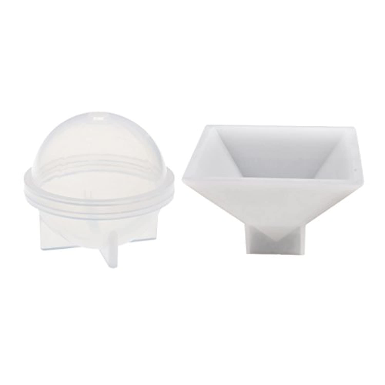 Fenteer ホームデコレーション 球形とピラミッド形 シリコーン 金型ツール