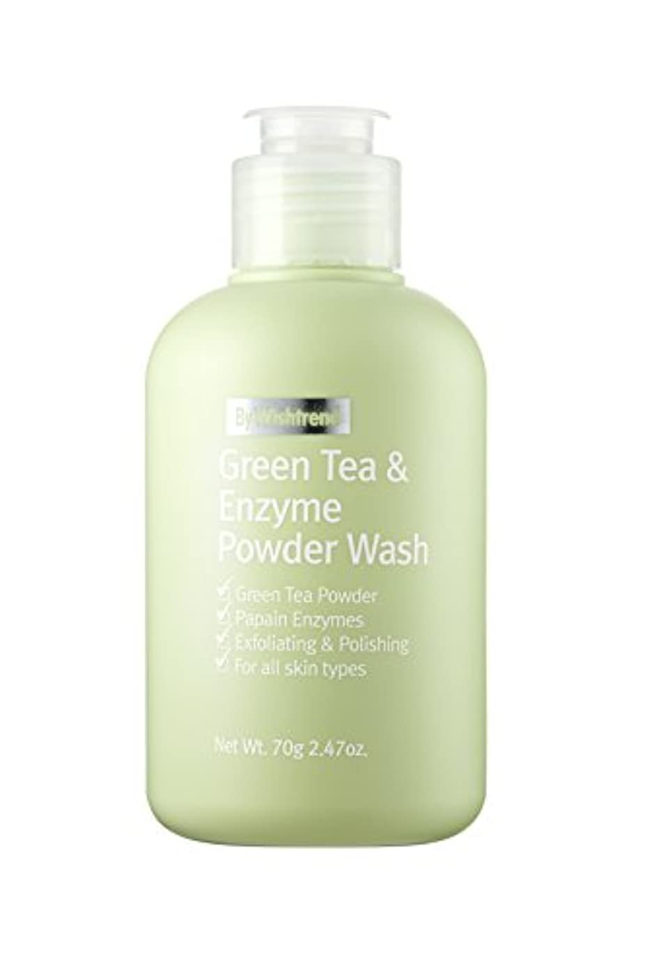 ファン財布気難しいBY WISHTREND(バイ?ウィッシュトレンド) グリーンティー&エンザイム?パウダーウォッシュ, Green Tea & enzyme Powder Wash 70g [並行輸入品]