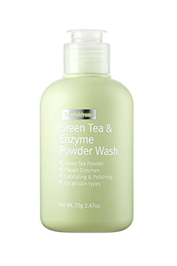 統合リマーク同意BY WISHTREND(バイ?ウィッシュトレンド) グリーンティー&エンザイム?パウダーウォッシュ, Green Tea & enzyme Powder Wash 70g [並行輸入品]