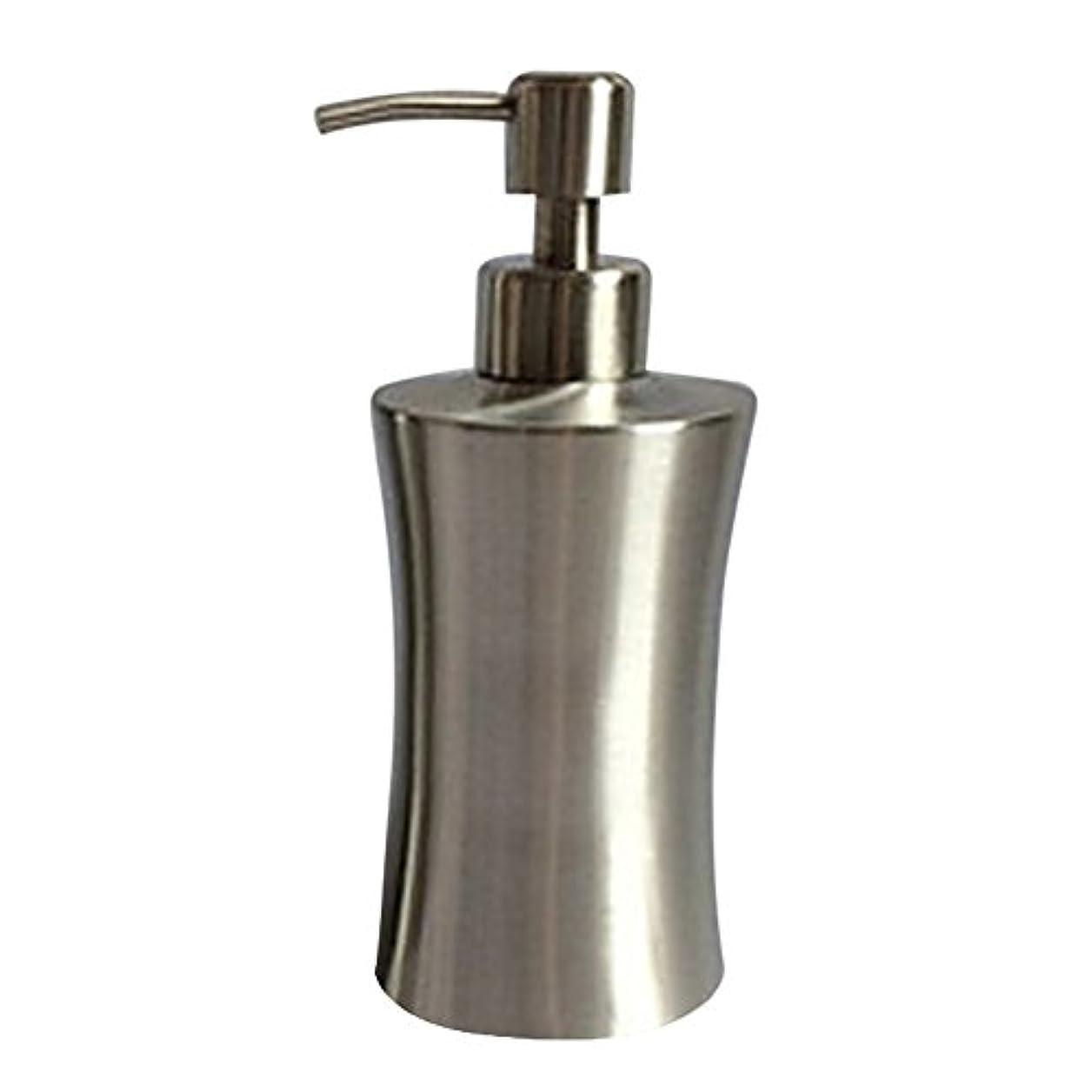 傀儡序文重荷ディスペンサー ステンレス ボトル 容器 ソープ 石鹸 シャンプー 手洗いボトル 耐久性 錆びない 220ml/250ml/400ml (C:400ml)
