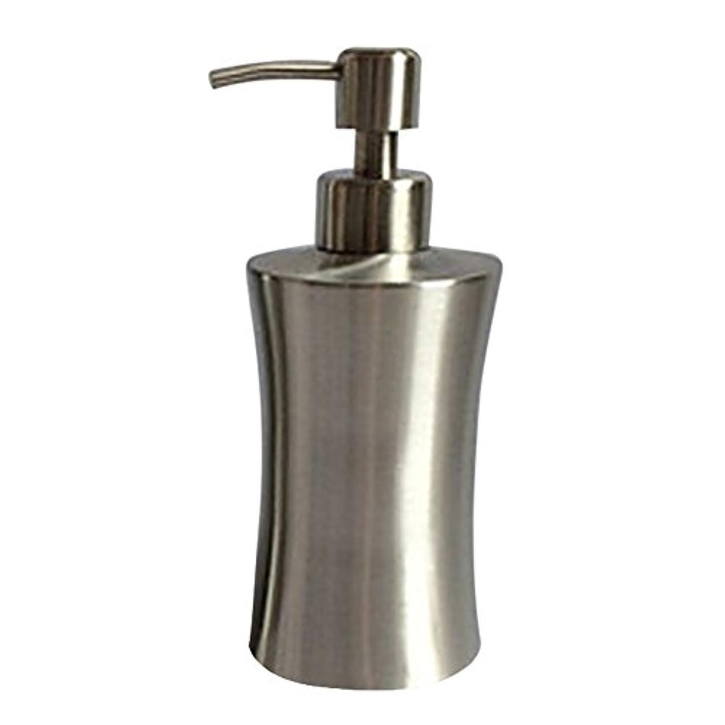 事故杭シルエットディスペンサー ステンレス ボトル 容器 ソープ 石鹸 シャンプー 手洗いボトル 耐久性 錆びない 220ml/250ml/400ml (C:400ml)
