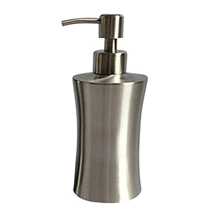 抽象食欲憧れディスペンサー ステンレス ボトル 容器 ソープ 石鹸 シャンプー 手洗いボトル 耐久性 錆びない 220ml/250ml/400ml (C:400ml)