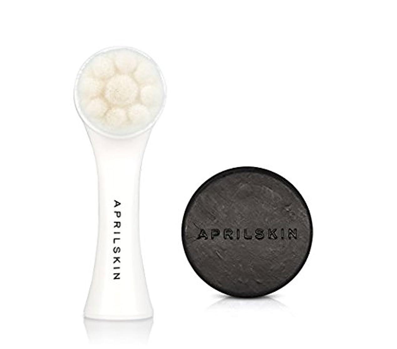 存在するポスト印象派代表APRILSKIN PORE CLEANER SET [エイプリルスキン国民石鹸BLACK + 毛穴ブラシSET] [April Skin Magic Stone Black + All Kill Pore Bursh...