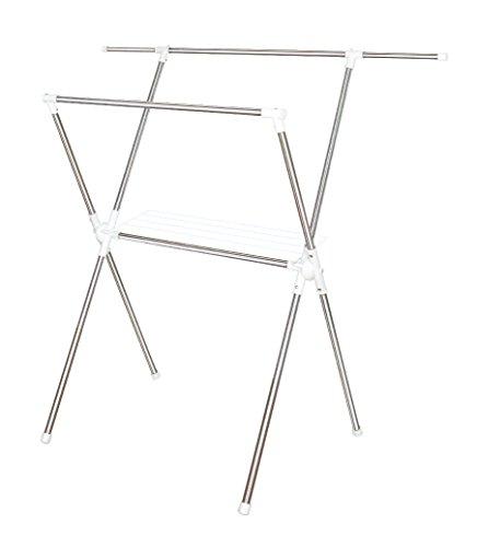 平安伸銅工業 ステンレスX型室内物干し 伸縮タイプ 伸縮幅89~139cm 耐荷重9kg MC-10