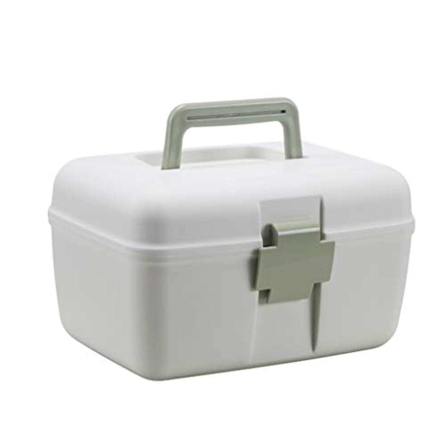 抗生物質寓話報復家庭用救急箱 薬箱 収納箱 ツールボックス 応急ボックス 多機能収納ケース 取っ手付き 持ち運び便利 緊急 防災 薬入れ 小物入れ 緊急応急 ホワイト 25cm*19.0*16cm グリーン ピンク ブルー 可愛い