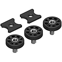 """The 3+2 Set of DREAMGRIP Original ¼"""" Track Nut Connector and ¼"""" Original Bolt Screw (3 Bolts, 2 Track Connectors in a Pack)"""