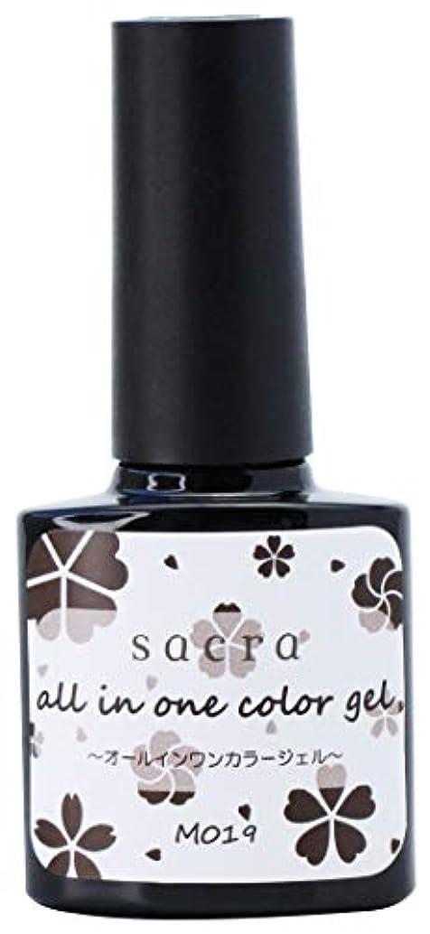 キャッチ取り囲む試みsacra(サクラ) sacraオールインワンカラージェル M019 ジェルネイル 6ml