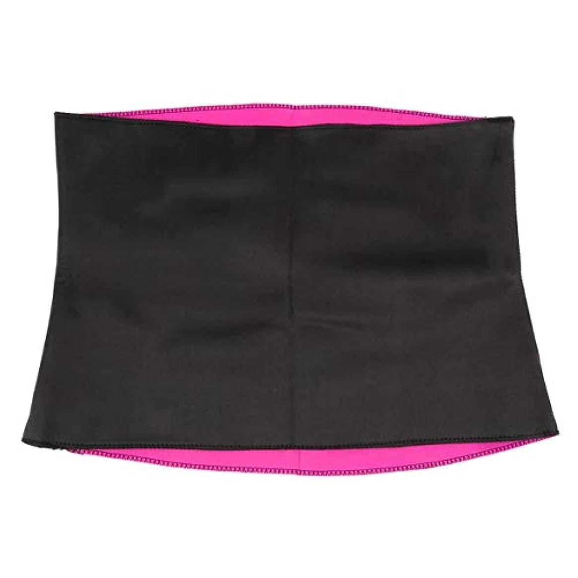 立ち寄るバーマド閉塞女性成人用固体ネオプレン健康痩身減量ウエストベルトボディシェイパー痩身トレーナートリマーコルセット - 赤&黒