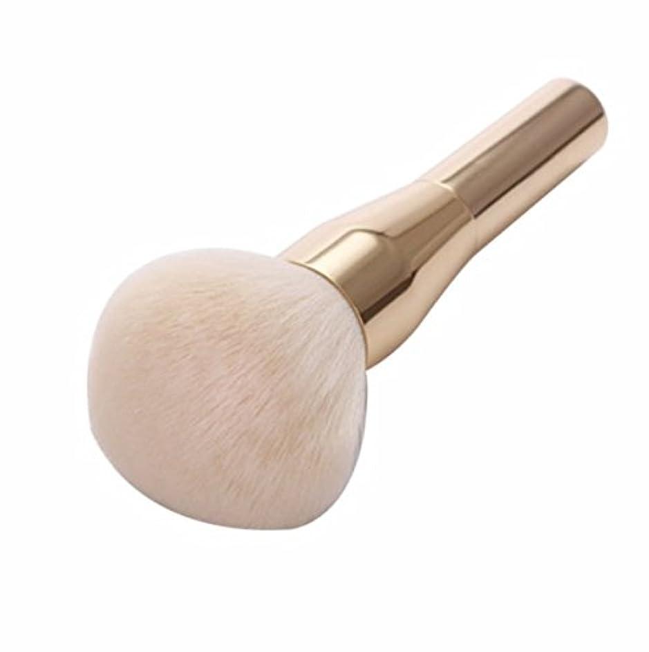 ペックマークされた食器棚Gold Powder Blush Brush Professional Make Up Brush Large Cosmetics Makeup Brushes Foundation Make Up Tool
