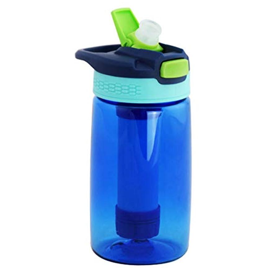 バンカー満足させる永遠のアウトドアネットケトルフィルターウォーターカップスポーツポータブル直接飲料水カップ救急箱キャンプやハイキングを掃除しやすい,ブルー